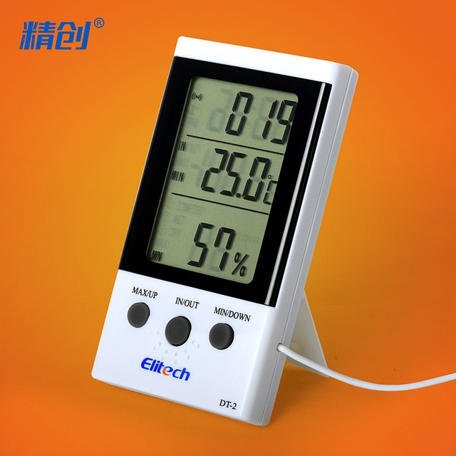 Hygrometer outdoor household precision thermometer metal indoor clock high precision electronic temperature probe