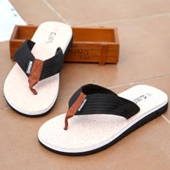 拖鞋凉拖男防滑拖鞋沙滩泰国拖鞋橡胶软木底牛筋男人字拖夹脚防滑