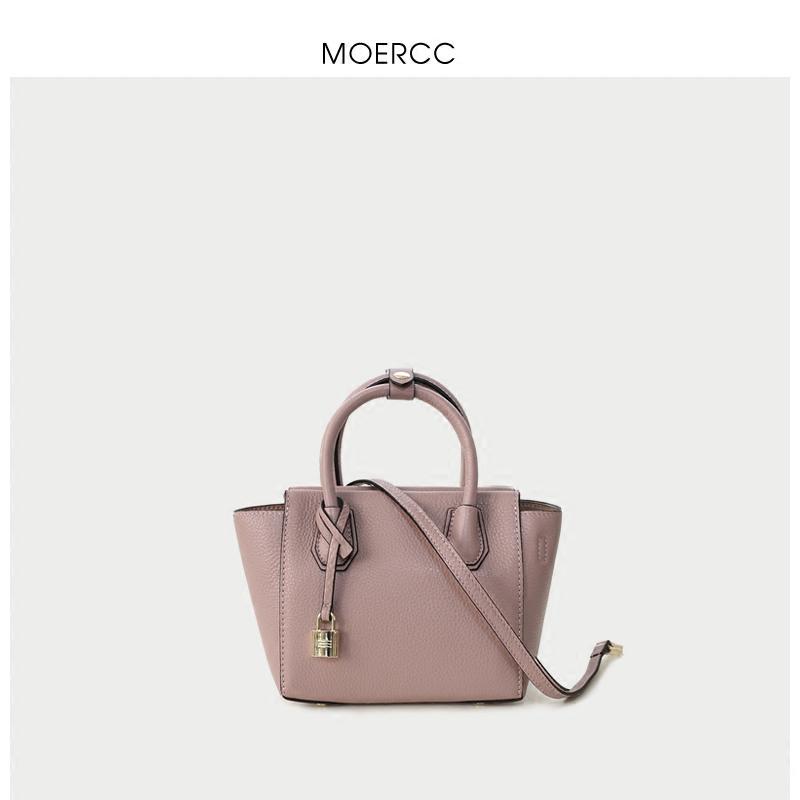 黑色moercc春夏簡約新款手提包迷你小包時尚笑臉包單肩斜挎包牛皮女包