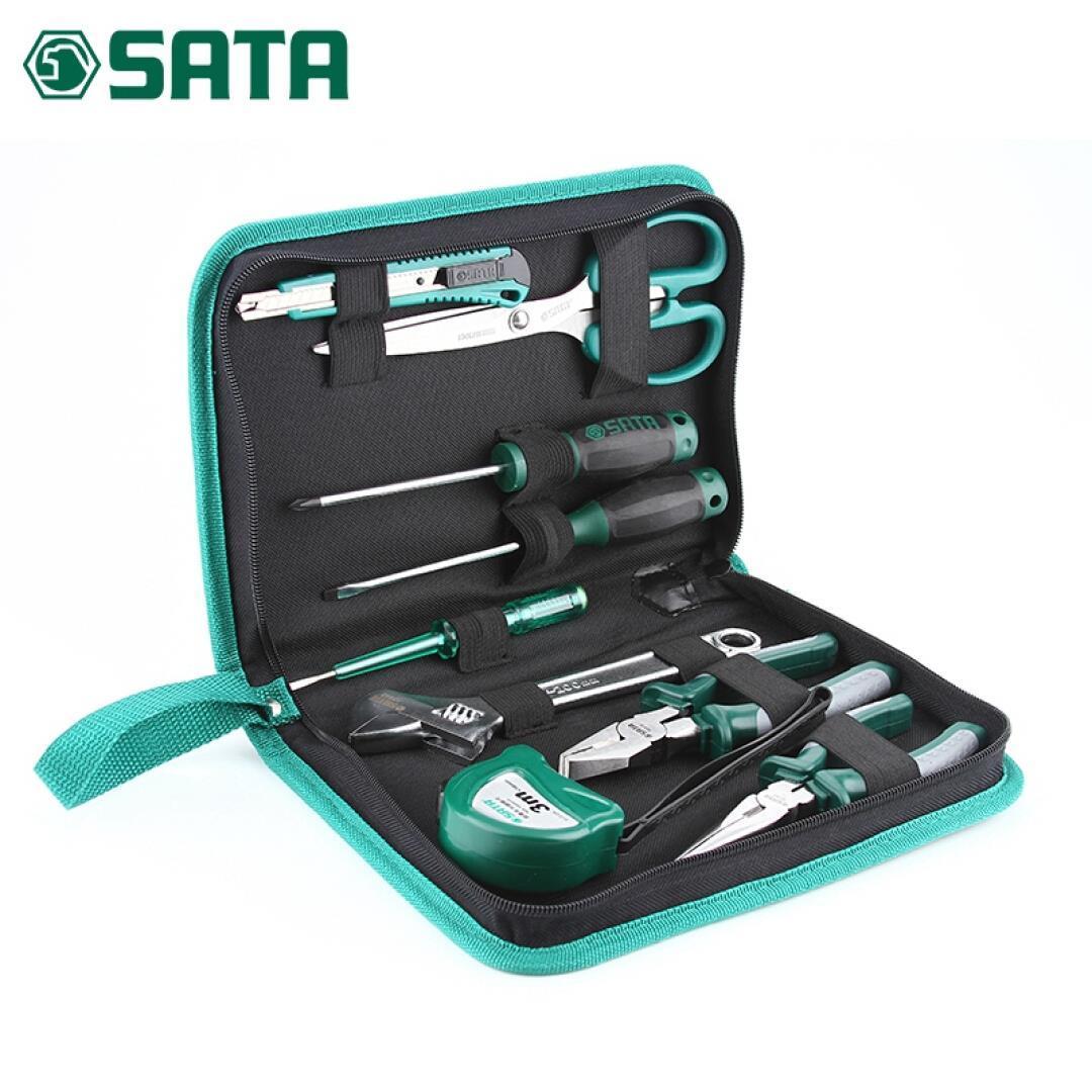 Шида (SATA) Шида оборудование 9 частей Toolkit обслуживание многофункциональный бытовой инструментарий набор группы электрик