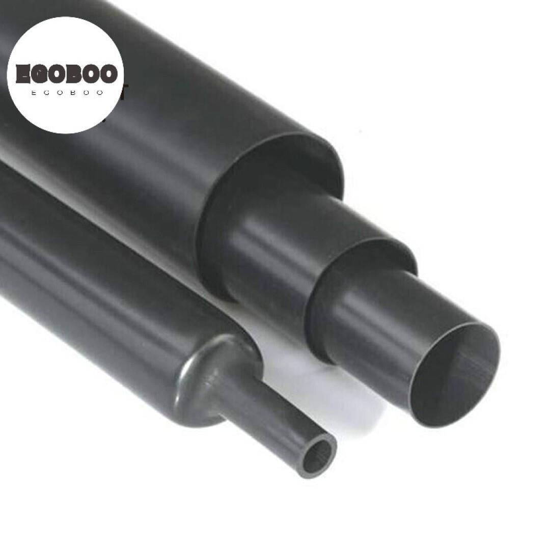 Negro denso tubo de doble pared aislante de calor y la protección del medio ambiente de doble pared con pegamento 3 veces 2.4mm-1 contracción térmica