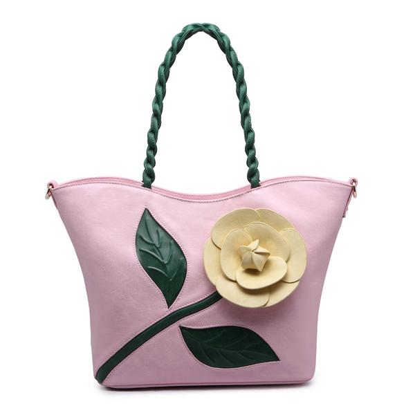 2016 лето новой моды хит цвет трехмерные цветы хозяйственная сумка портативный плечо сумка сумка женская большая красная