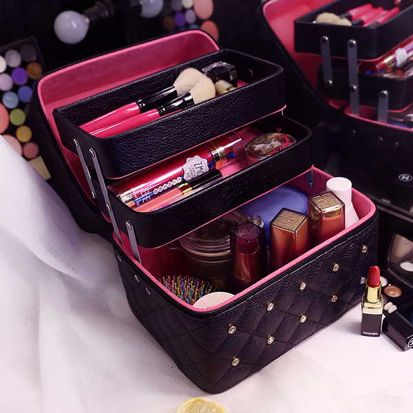 Cosmetic bag double layer large size high-end skin care products portable travel collection portable cosmetic case storage washing bag