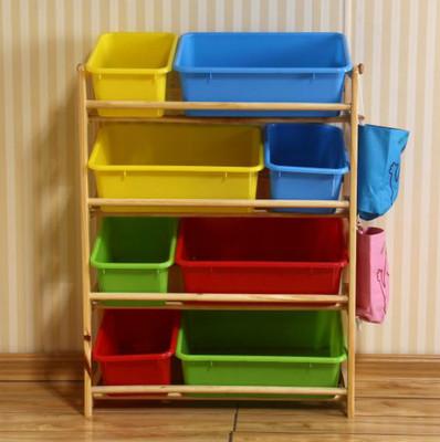 儿童玩具收纳架实木宜家幼儿园玩具柜宝宝超大容量储