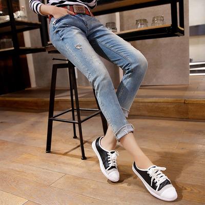 女九分修身显瘦弹力紧身学生铅笔裤