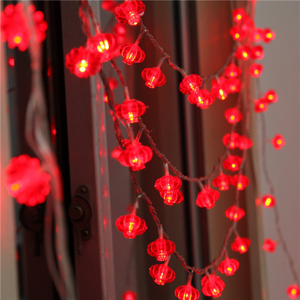10 30m red lantern led string light end 12 6 2018 11 15 pm for Decoration chambre led