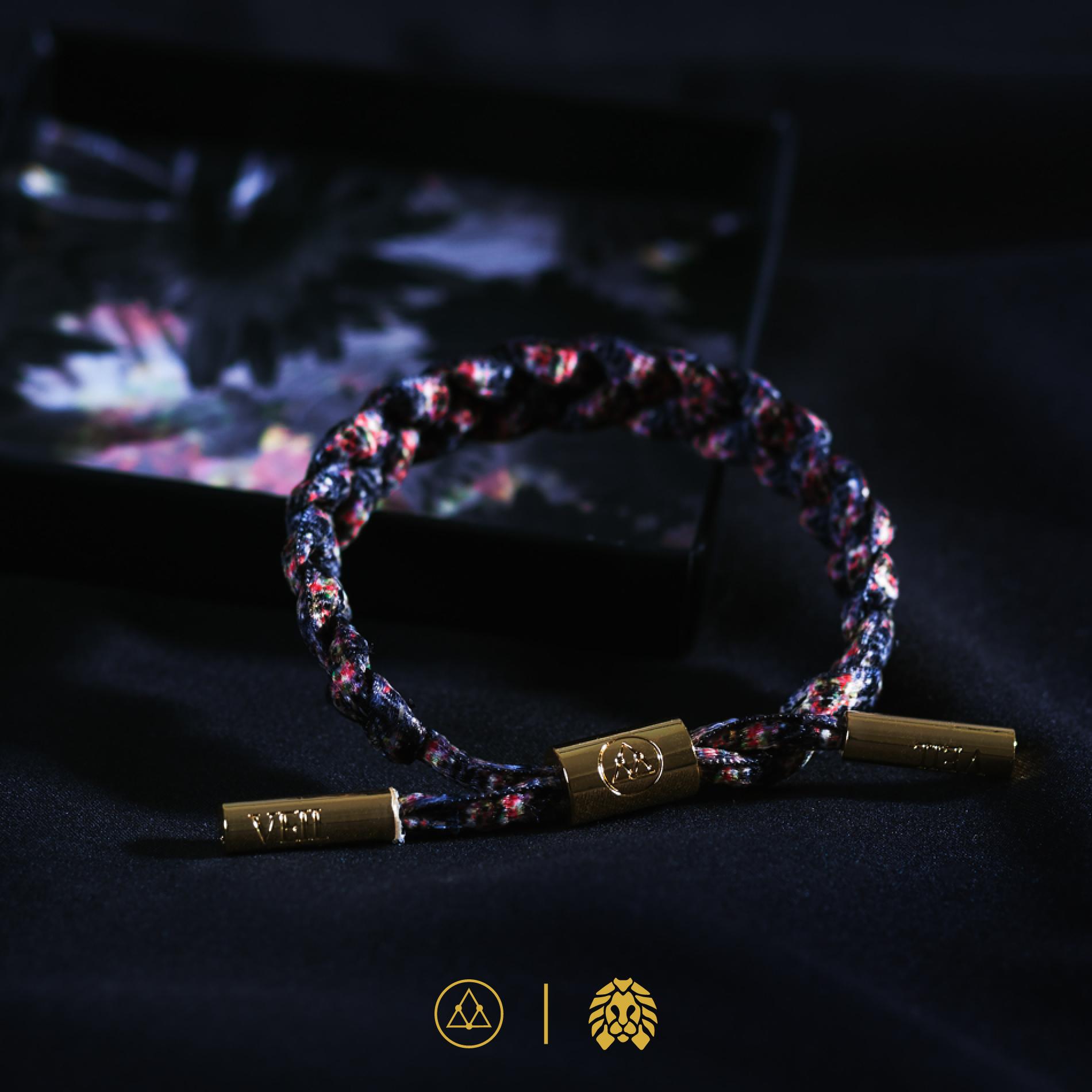 Rastaclat x VEIL 經典黑花卉 鞋帶手鏈 合作限量款