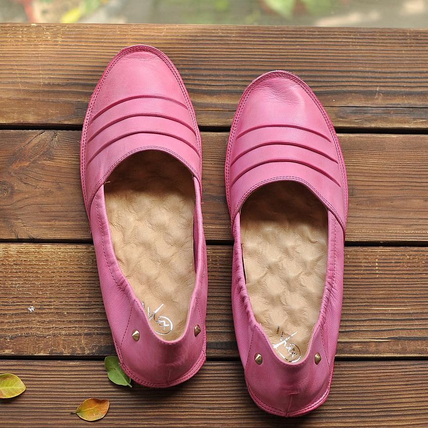 5新款春鞋英伦复古系带厚底牛津鞋子手工价格:$268.00元-古禾雨