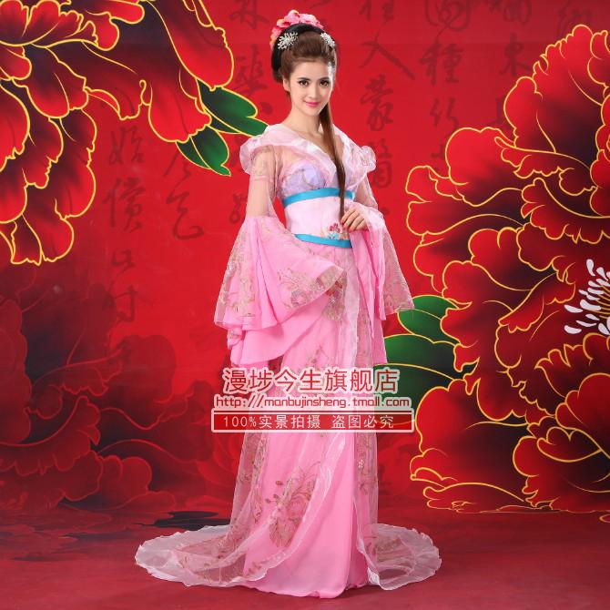 舰店 格格公主古装服装 飘逸仙女古代衣服 唐装汉服戏服广袖流仙裙图片