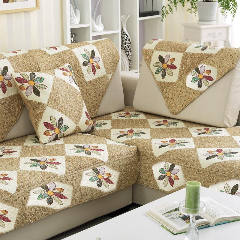 简约高档防滑欧式沙发垫蕾丝巾套罩加厚灰色亚麻沙发垫布艺坐垫