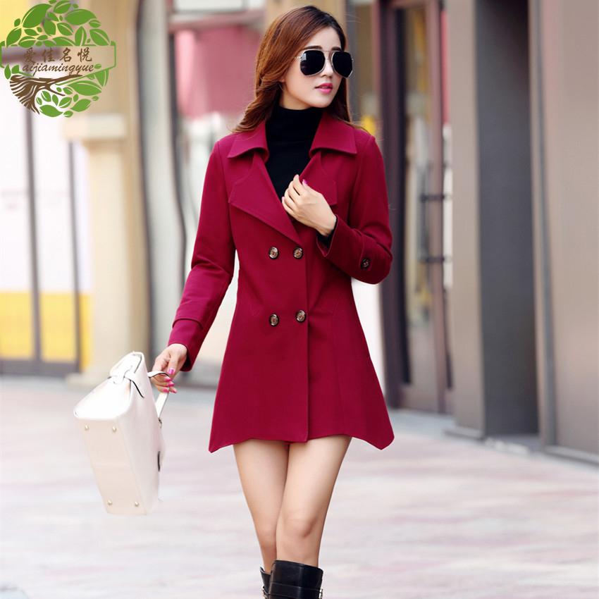 时尚风衣女款图片_冬季女时尚长风衣