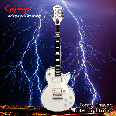 Epiphone Tommy Thayer White Lightning Les Paul Classic电吉他