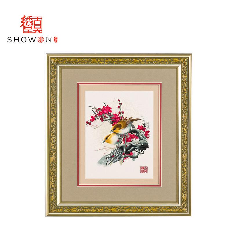 1033AGA苏绣精品高档苏绣纯手工刺绣送礼礼品花鸟价格:$2680.图片