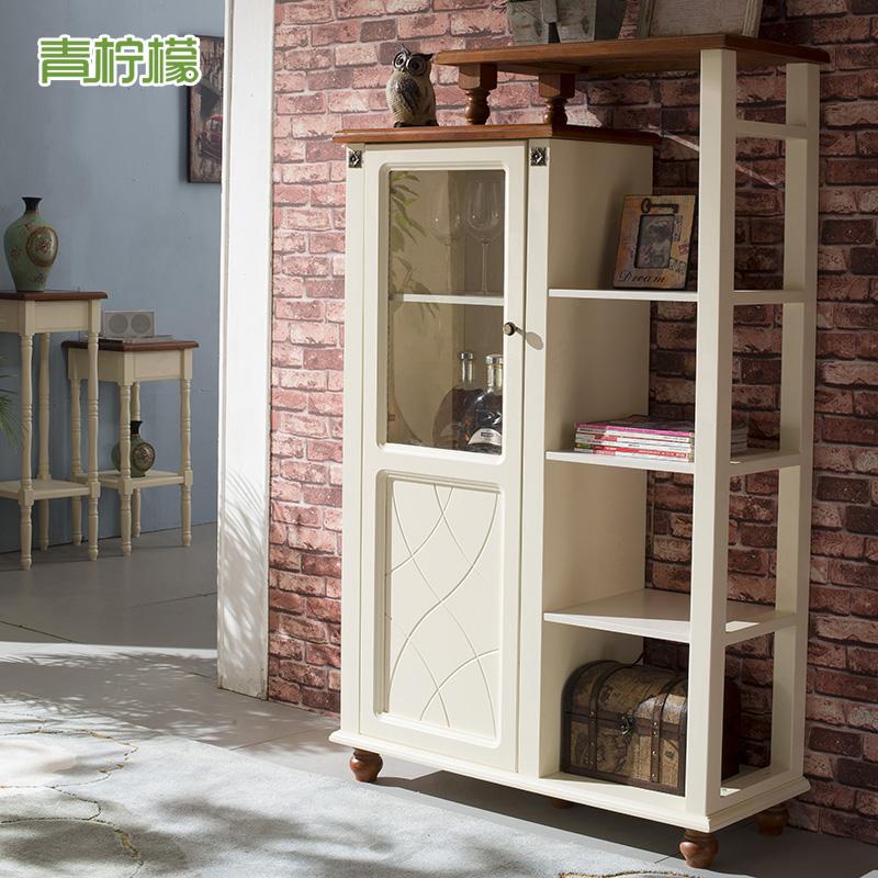 柠檬美式乡村小书架置物架层板架地中海装饰柜小酒柜价格:$1680.