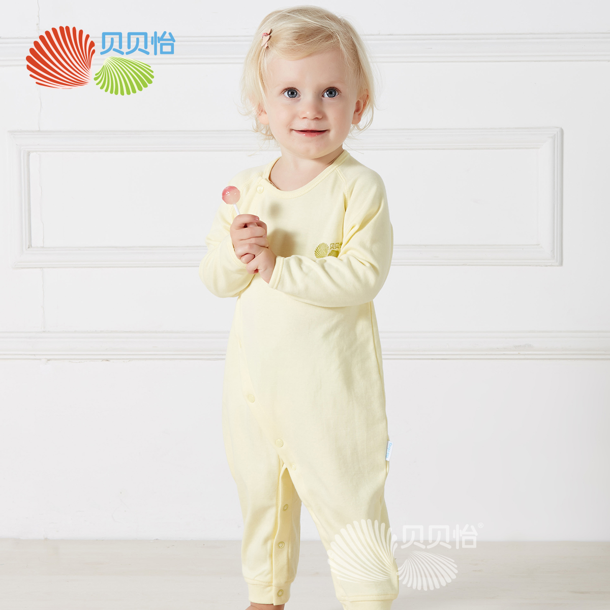 贝贝怡 男女新生儿内衣服装纯棉婴儿连体衣春秋爬服长爬哈衣127价格图片