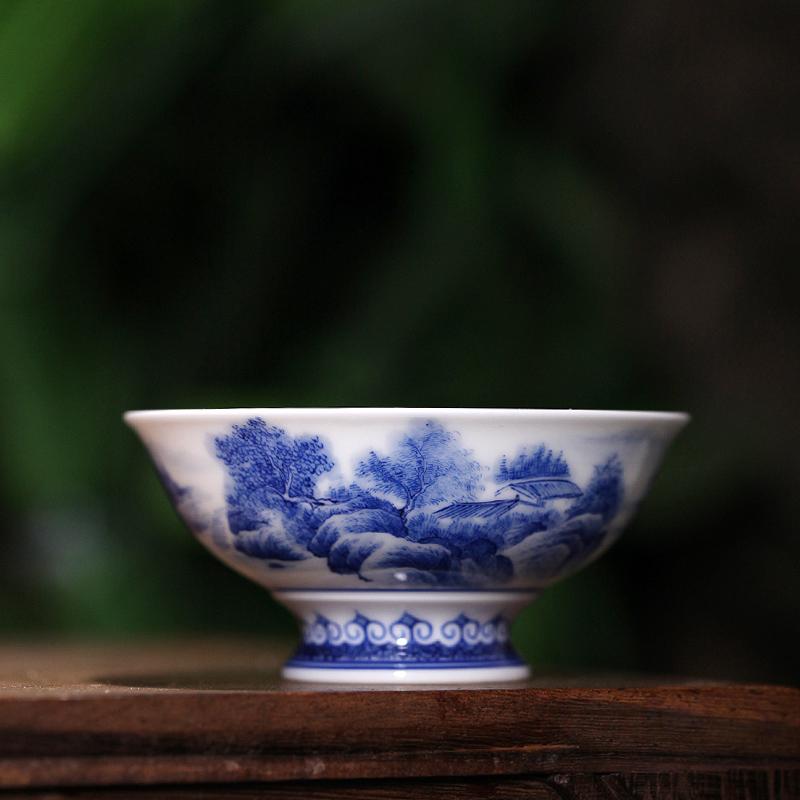 景德镇过滤带盖水杯 礼品茶具会议杯子