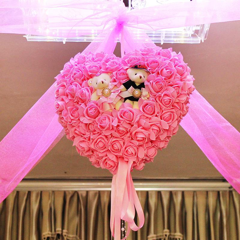 婚房布置 婚房装饰 挂饰 套餐 婚礼 结婚 婚庆用品 新房拉花花球价格:图片