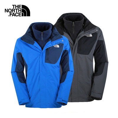The North Face/北面 新款秋冬男式耐磨保暖三合一冲锋衣A6HC壹
