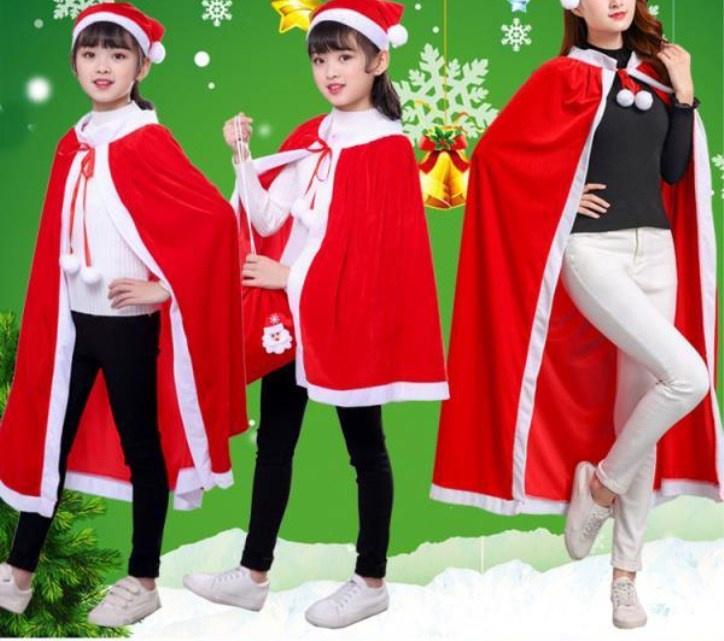 中國代購|中國批發-ibuy99|小2020年搭女斗篷秋冬新款中长百披风毛呢圣诞款大衣个子红色外套