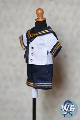 taobao agent Spot baby GUY BJD 6 points doll clothes 3 points 4 points suit SD men and women short-sleeved skirt pants school uniform DD MDD