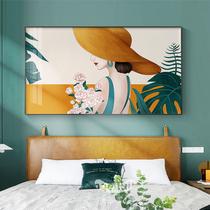 卧室主卧床头装饰画现代简约房间背景墙挂画轻奢人物客厅餐厅壁画