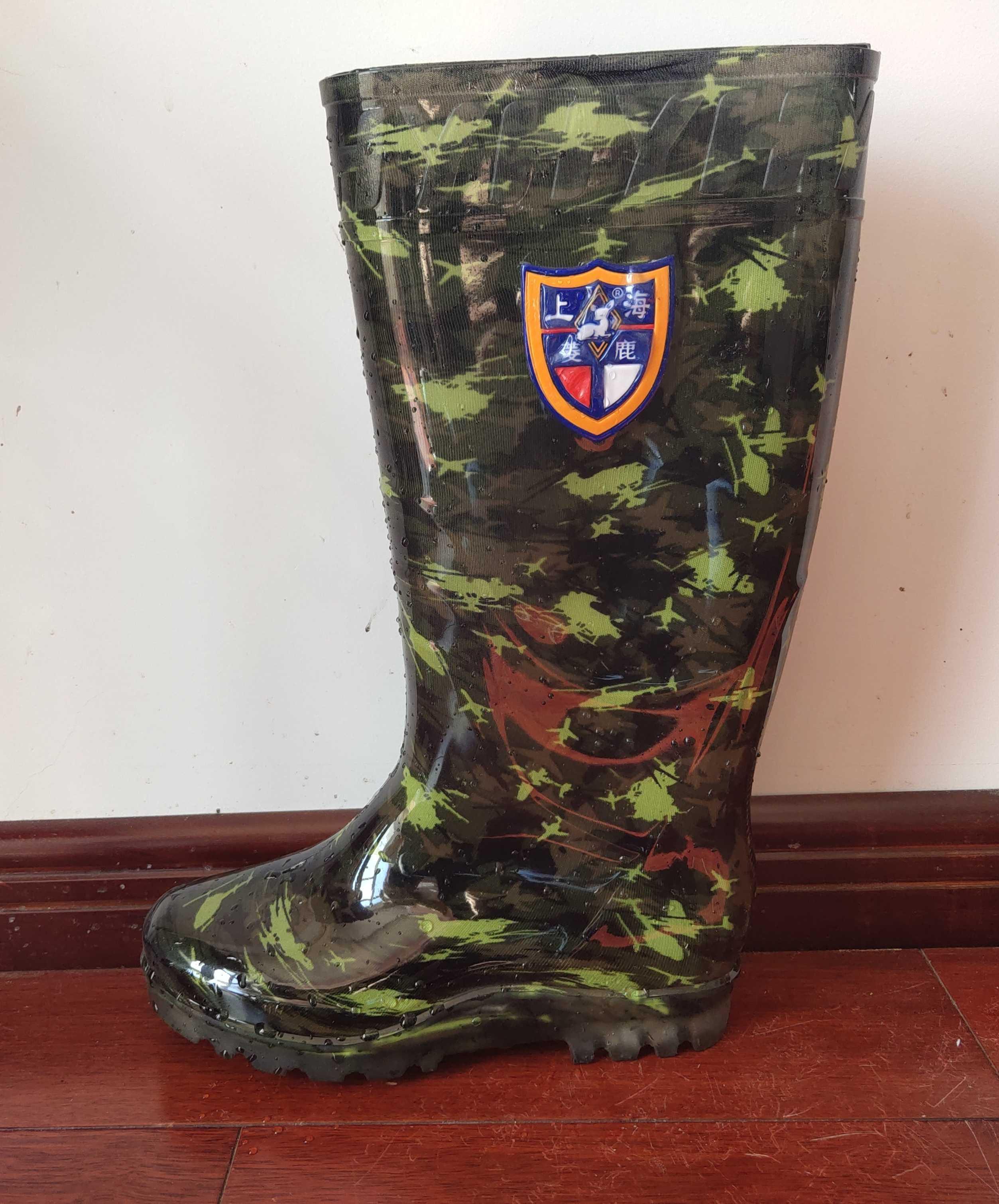Giày ngụy trang nam ống cao ủng chống nước và chống trượt nhà bếp chống trượt cao - Rainshoes