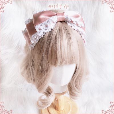 taobao agent 【Multicolor】Maid original hand-made pink lace kc headband lolita everyday elegant bow universal