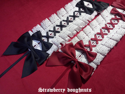 taobao agent 【Original】lolita hand-made small things hair band headdress red and black babydoll figure artist