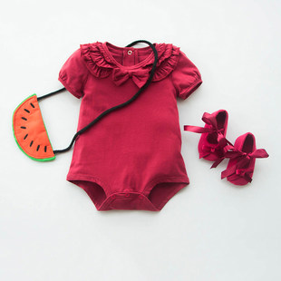Baby clothes one-piece clothes triangle romper princess cute suit female baby spring and autumn clothes summer bag fart clothes 1 year old 0