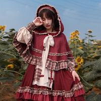 Оригинал 【небольшой красный Cap op】withpuji платье лолиты с оригинальным дизайном негабаритная юбка демисезонный толстая степень