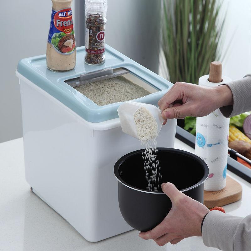 厨房家用20斤30斤装米桶储米↑箱防虫防潮装面粉杂粮米缸12斤收纳箱