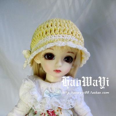 taobao agent Bjd doll hat 6 points for men and women, woolen winter hat, multicolor