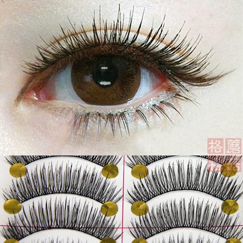 Nhật bản Đài Loan handmade lông mi giả tự nhiên dài khỏa thân trang điểm dày phần chéo bông cuống mắt lông mi