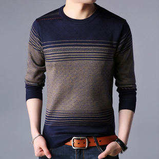 毛衣男士长袖T恤秋衣针织打底衫