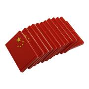 Mất đỏ lá cờ Trung Quốc armband pvc cao su mềm Velcro tùy chỉnh thêu dệt dán chương tinh thần chương hàng loạt nhỏ