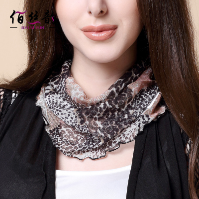 2017 New Silk Collar Neck Women's Silk Collar Scarf