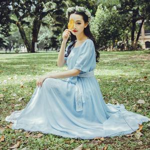 6106#新春新款蕾絲之名時光中精致華麗溫婉的愛人復古長裙