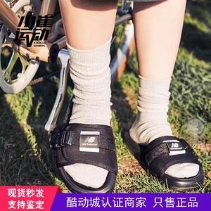 Xiao Cui thể thao mới cân bằng duy nhất khóa vài mô hình bãi biển màu đen dép và dép SD2152BK