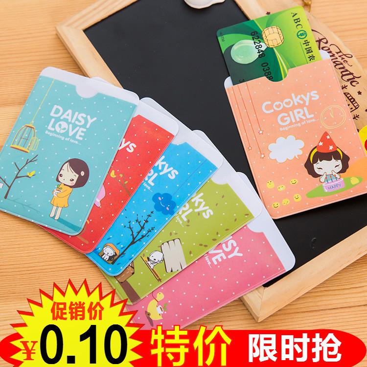Xách tay sinh viên bữa ăn thẻ xe buýt thẻ bộ chủ thẻ ngân hàng korea sáng tạo hai mặt siêu mỏng id thẻ bộ id thẻ bộ