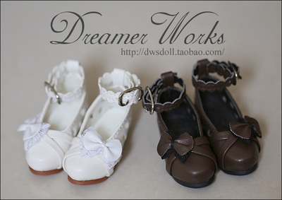 42agent SD/BJD 3 points 4 points doll shoes flower hole lace bow casual shoes 1/4, 1/3 five color selection - Taobao
