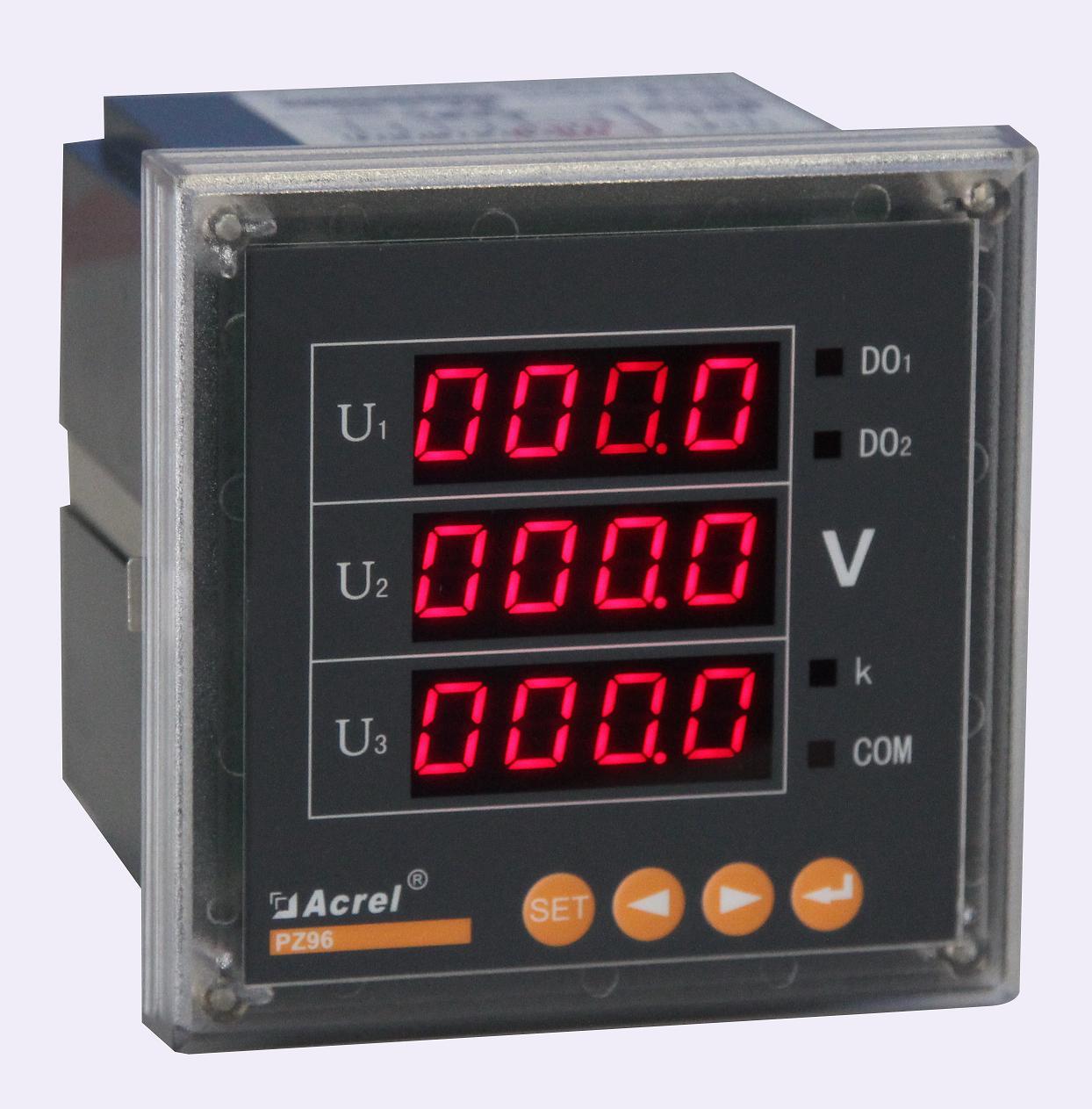 安科瑞三相电压表智能仪表数显交流PZ96-AV3/C带通讯