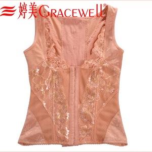 Tingmei mỏng và mỏng bụng đích thực cherry blossom cat trở lại clip eo hỗ trợ ngực vẻ đẹp trở lại trị liệu từ tính khóa cơ thể chất béo áo ...