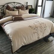 Mới của Trung Quốc mô hình phòng giường sản phẩm 60 bông thêu bốn bộ bông thêu 1,8m giường đặt sáu