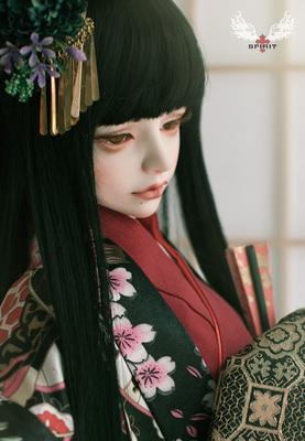 taobao agent 2 points adult figure/old lady/3 points red kimono suit(BJD Doll Japanese Doll Kimono-Black)