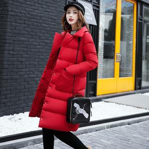 羽绒服棉衣中长款新款2017冬季韩版外套学生大码宽松羽绒棉服1702