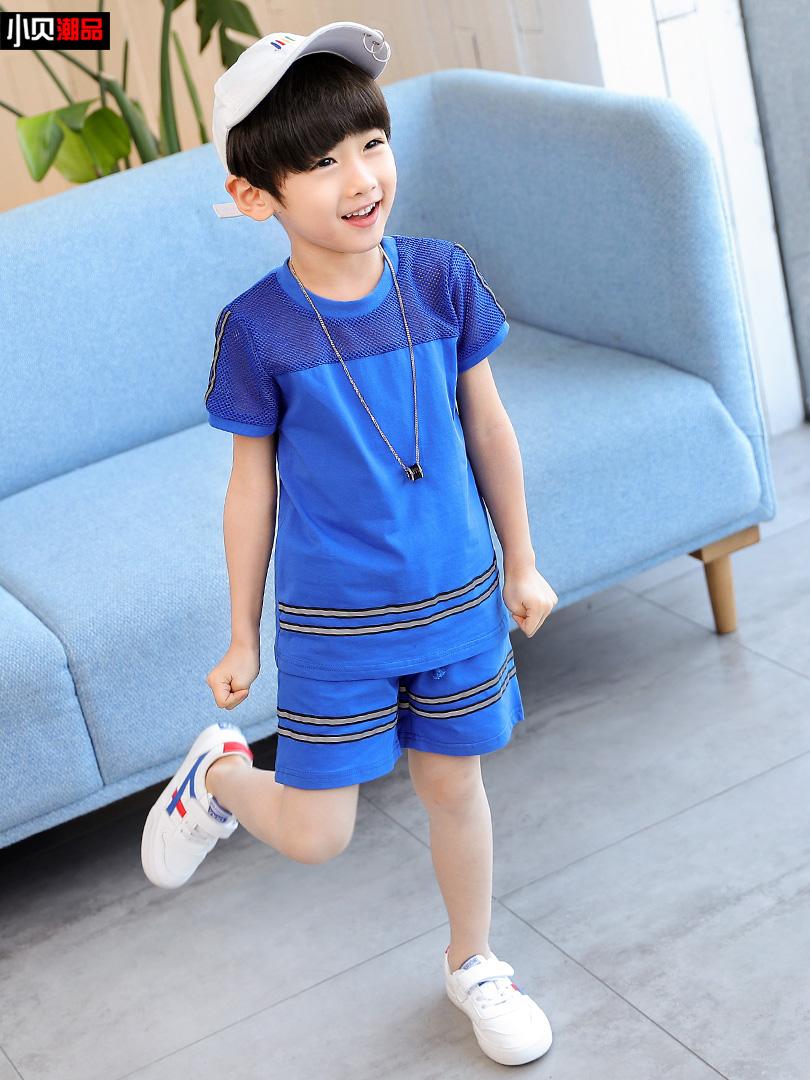 男童夏装2019新款套装儿童短袖运动装韩版中大童两件套夏季潮童装