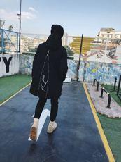2017冬装新品 走秀款潮牌中长款套头棉衣 个性设计是你没见过的
