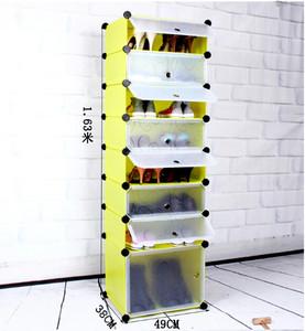 Giày Đơn Giản Bụi Giày Multilayer Lắp Ráp Lưu Trữ Nhựa Gia Cố Đặc Biệt Sáng Tạo Giày Hộp Vận Chuyển Giày