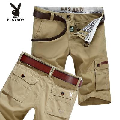Playboy mùa hè bảy quần short nam quần 5 điểm quần yếm lỏng mùa hè bông bãi biển quần âu Quần làm việc