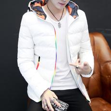 8985#新款冬季青年棉衣男韩版彩色时尚休闲连帽棉服潮外套